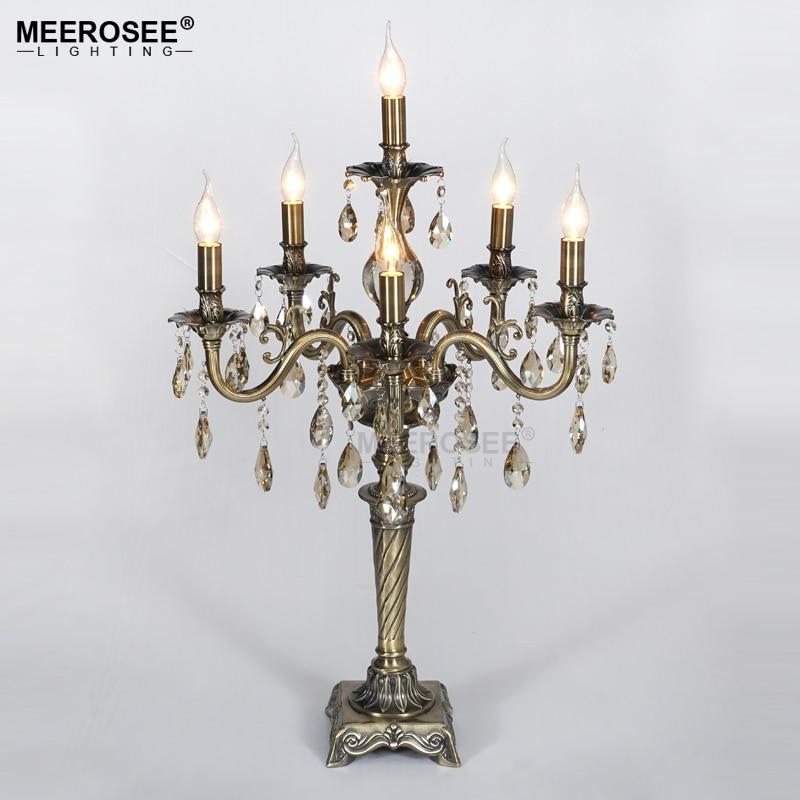 Lámpara de mesa de Cristal Vintage para dormitorio, lámpara de Cristal para...