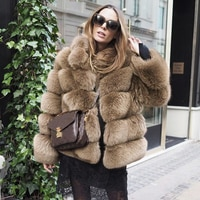 Tatyana Furclub Real Fur Coat Natural Fox Fur coat Jacket Fashion Fur Girl Winter Coat Female For Women Plus Size Can customized