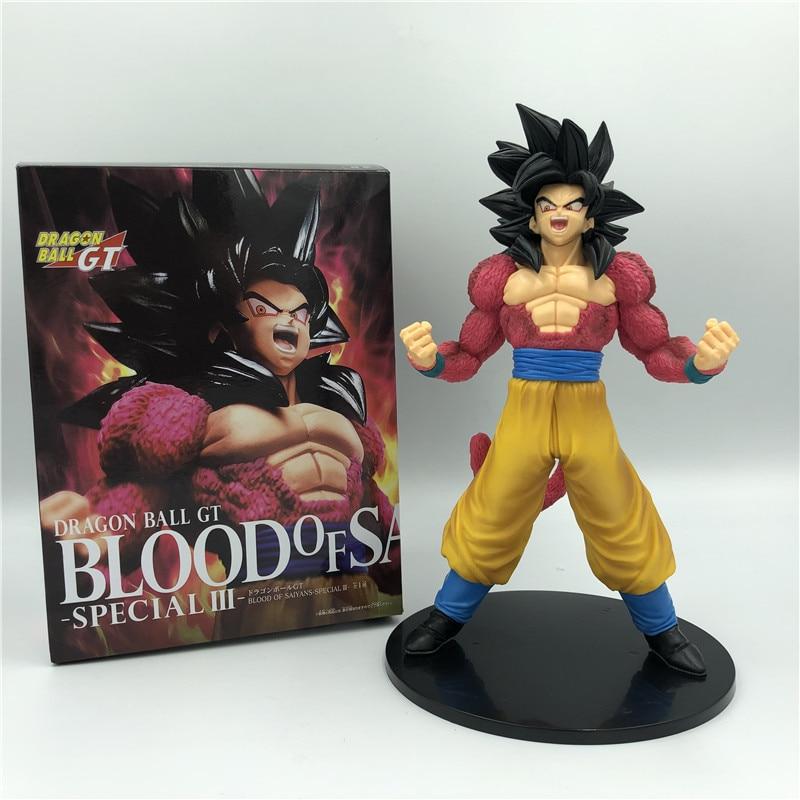 Драконий шар Z Goku GT, Saiyan, Супер Saiyan 4 Red Combat Ver. Экшн-фигурки из ПВХ DBZ коллекции 20 см