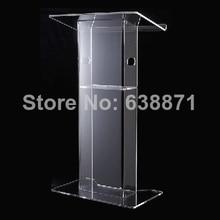FreeShiping Detachable Acrylic Lectern with Aluminum stands, Acrylic Pulpit, Acrylic Podium