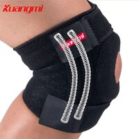 Kuangmi 1 Pair knee support Open Patella EVA Knee Brace Walking Wrap Knee Protector Adjustable Breathable Sport Protector Pads