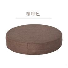 Linen Japanese Large Floor Cushions Futon Meditation Cushion Thickening Circle Seat Tatami