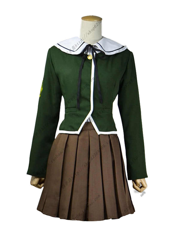 Anime Dangan Ronpa Fujisaki Chihiro cosplay conjunto completo traje personalizado