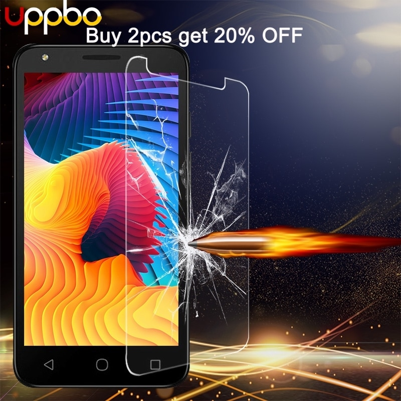 Uppbo vidrio templado para Alcatel OneTouch POP 4 Plus 4S 5056 5056D 5051X 5059 Pixi 4 3 4034 8050E 5010 5045 Protector de pantalla