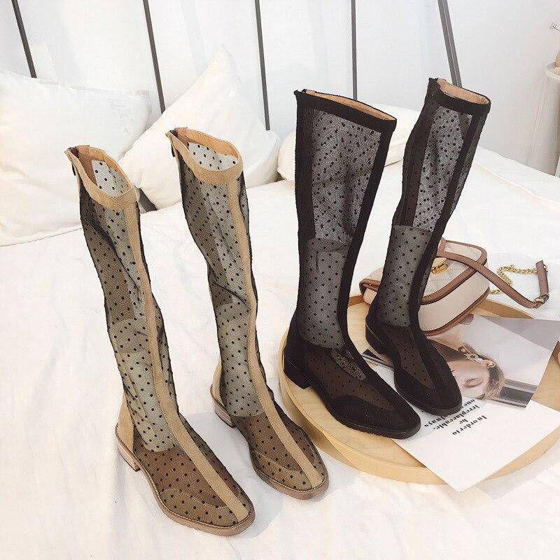 Sandalias mujer 2019 zapatos mujer Mertin botas de malla de verano marca chaussures femme High Top señoras footware botines transpirables
