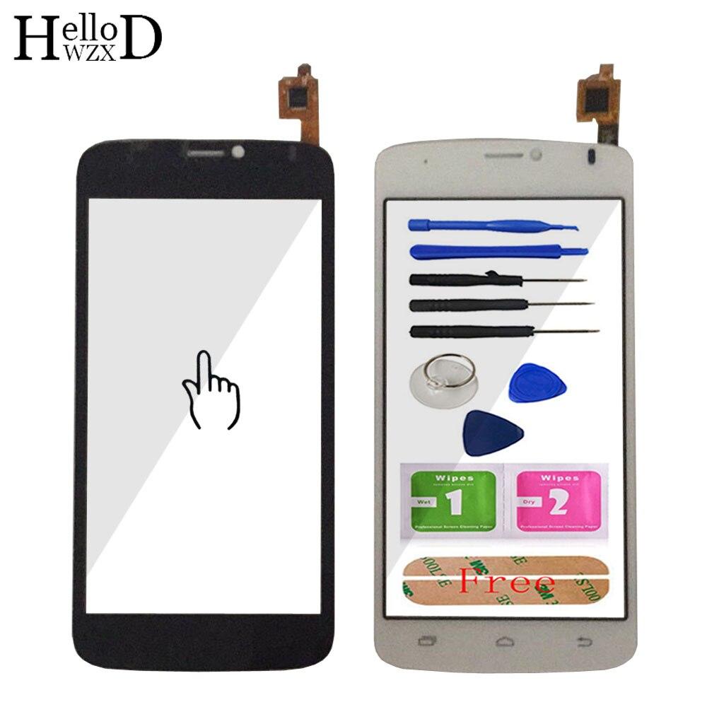 HelloWZXD cristal táctil para Prestigio multiteléfono PAP3502 PAP 3502 DUO teléfono inteligente pantalla frontal digitalizador Panel Sensor de lente adhesivo