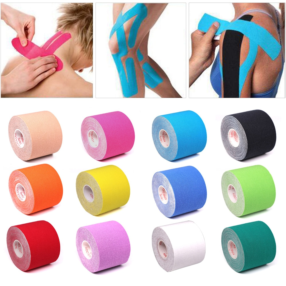 5 Size Kinesiology Athletic Tape Elastoplast Sports Recovery Strapping Gym Waterproof Tennis Muscle