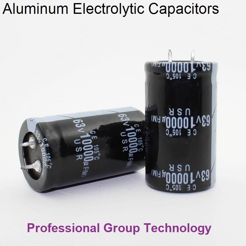 9pcs EC730 Good quality 63v10000uf Radial DIP Aluminum Electrolytic Capacitors 63v 10000uf Tolerance 20% size 30x50MM 20%