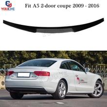 Audi A5-Spoiler arrière en Fiber de carbone   De Style M4, aile de coffre, pour Audi A5 coupé à 2 portes, 2009 - 2016 couvercle de botte, queue de protection