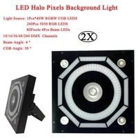 2Pcs/Lot LED Halo Pixels Background Lights Decorative Stage Lighting Effect Equipment Sound Party Club DJ Disco Bar Lights