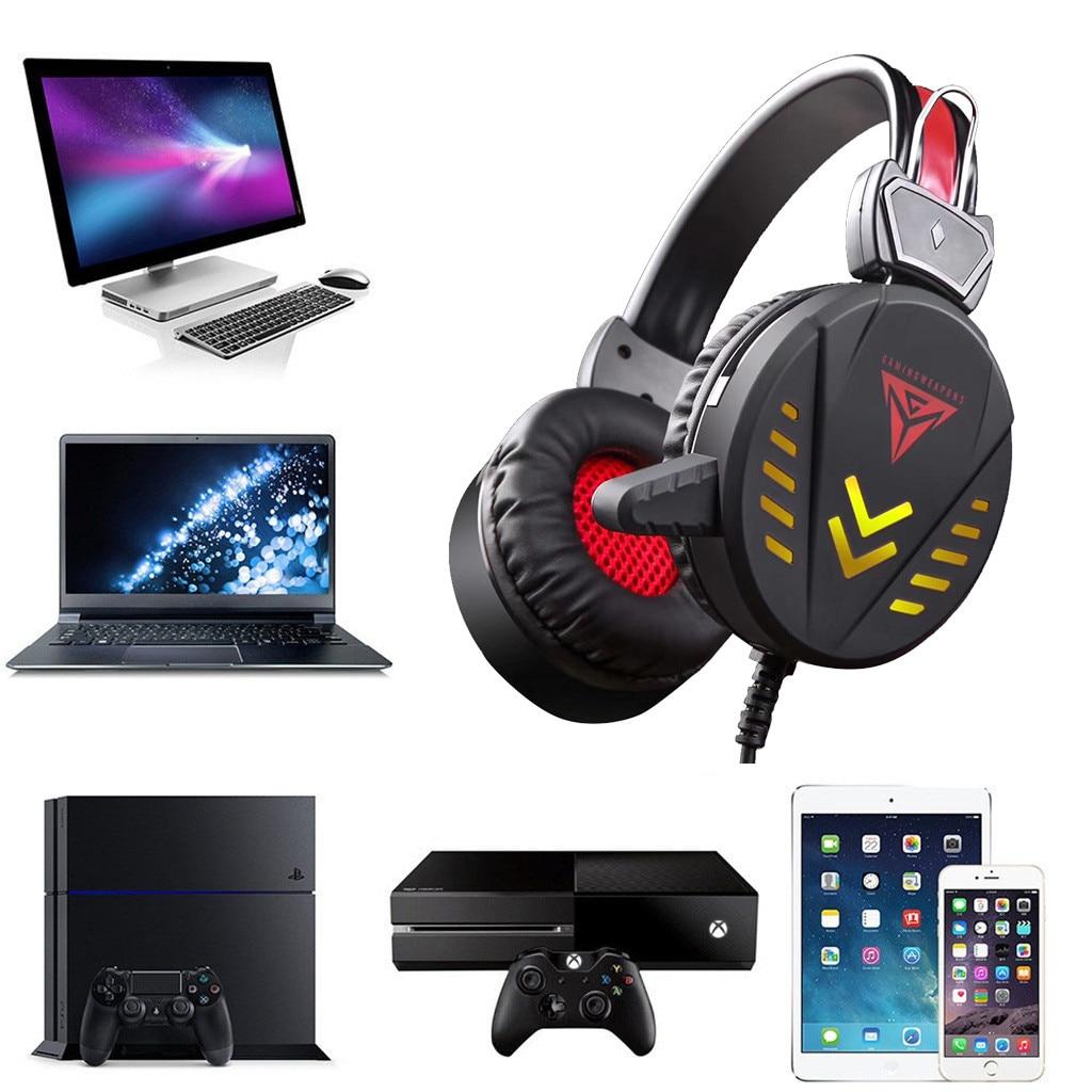 Auriculares para juegos con luces LED para PS4 PC Xbox one, estéreo, sonido envolvente, cancelación de ruido, auriculares para jugadores con cable, auriculares Z606