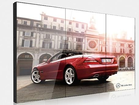 5760x1080p 1x3 Uds CCTV monitor panel soporte BNC VGA HDMI señal DVI 3,5mm bisel lcd pantalla lcd pared de vídeo
