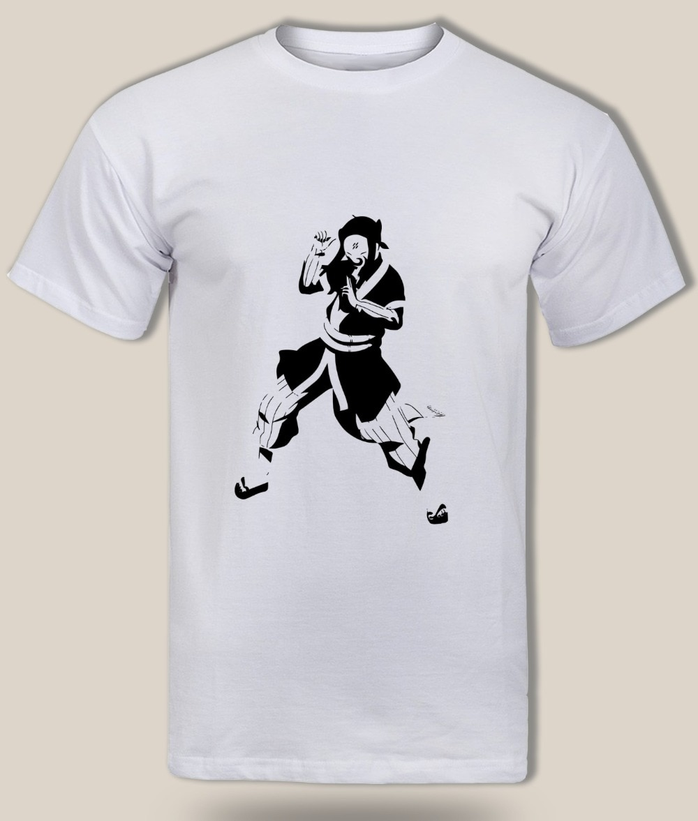 Nueva camiseta Haku de manga corta para hombre 2019, Camiseta de algodón de tierra del agua shinobi