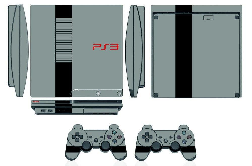 Q264 виниловая Защитная пленка для Sony PS3 Slim PlayStation 3 Slim и 2 контроллера