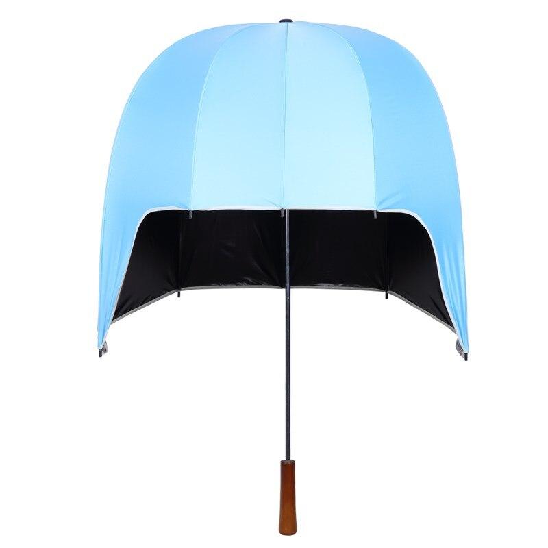 Guarda-chuva à Prova de Chuva à Prova de Vento Solar de Alta Moda Criança Crianças Capacete Guarda-chuva Homens Mulheres Não-automático Longa Alça Guarda-chuvas Protetor Qualidade