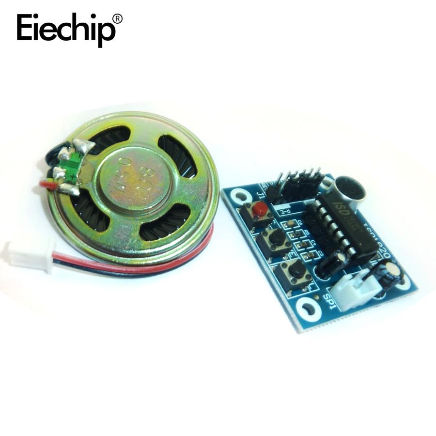 Módulo de grabación ISD1820 Módulo de voz tablero de módulo de voz con micrófonos + altavoz para Arduino Kit