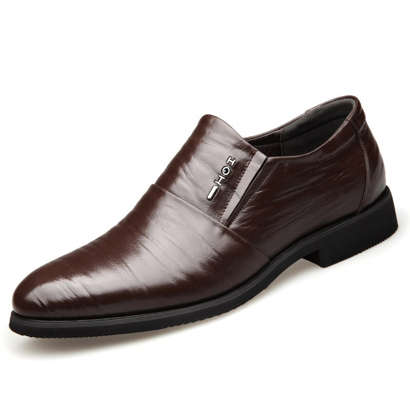 2019 Hot Business Dress Men Formal Shoes Wedding Pointed Toe Fashion Leather Shoes Flats Oxford Shoes for Men Men Dress Shoes lh