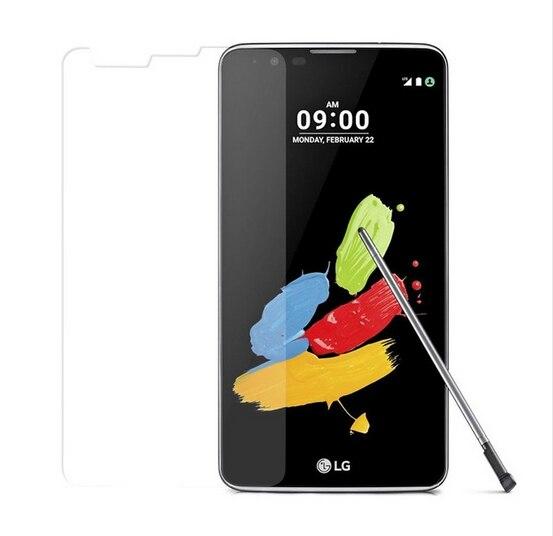 2.5D 0.3mm de vidro temperado Para LG Stylus 2 K520 LS775 caso capa + limpar protetor de tela guarda film frente kits