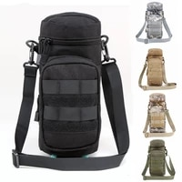 cqc 1000d outdoors military tactical molle water bottle pouch airsoft kettle waist bag with shoulder strap