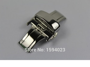 18mm solid stainless steel Silver watch band bcukle Double Push Button Fold Butterfly Deployment clasp For T044 T461 T059