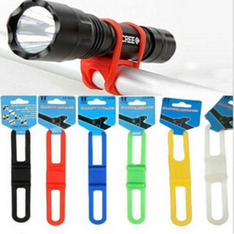 Guiador alça de silicone bicicleta frente luz titular fixação do telefone elástico gravata corda ciclo tocha lanterna ataduras achd001