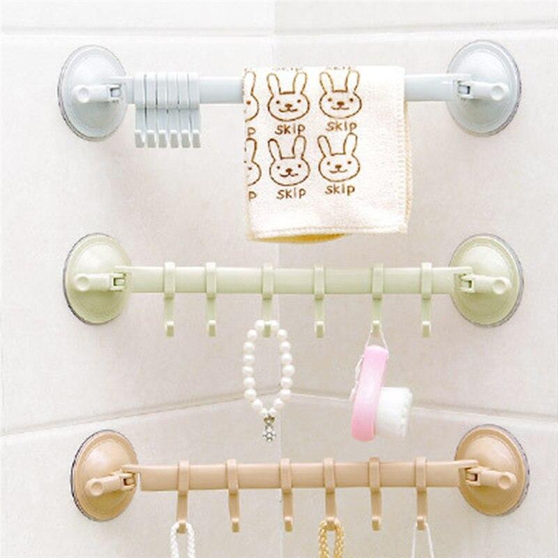 Toalla cuchara ventosa taza 6 ganchos baño cocina pared puerta sin rastro soporte fuerte