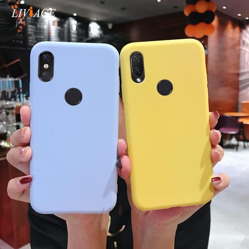 silicone case on for xiaomi mi play mix 3 mi 8 lite pro mi8 explorer edition max 3 pro candy color s