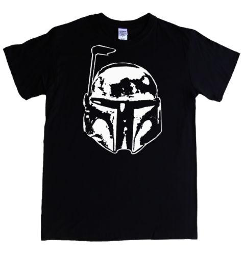 ¡Novedad de 2019! casco de Star Wars Bounty Hunter Boba Fett estampado Casual de verano Harajuku divertido Rick personalizar camisetas