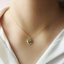 Silvology 925 collier coeur brillant en argent Sterling collier pendentif minimaliste avancé pour les femmes à la mode 2019 bijoux cadeau