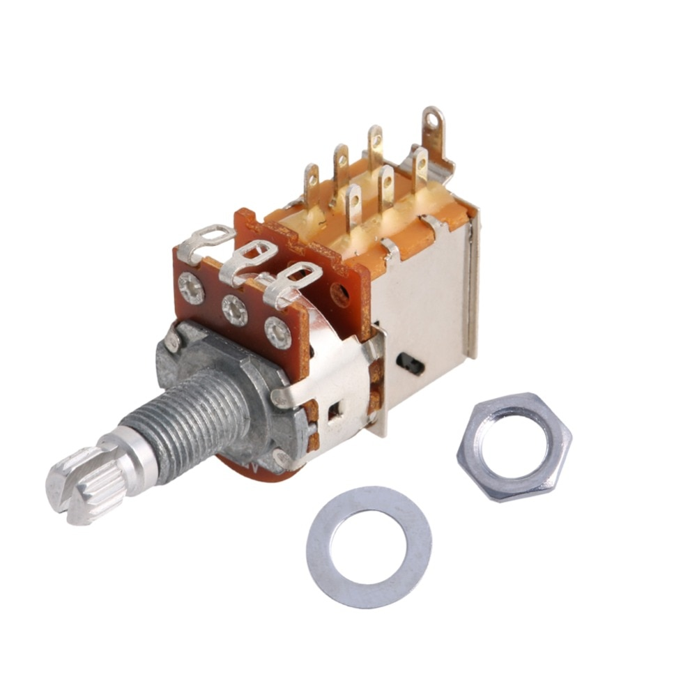 1Pc B500K Electric Guitar Push Pull Ascend Bass Control Switch Pot