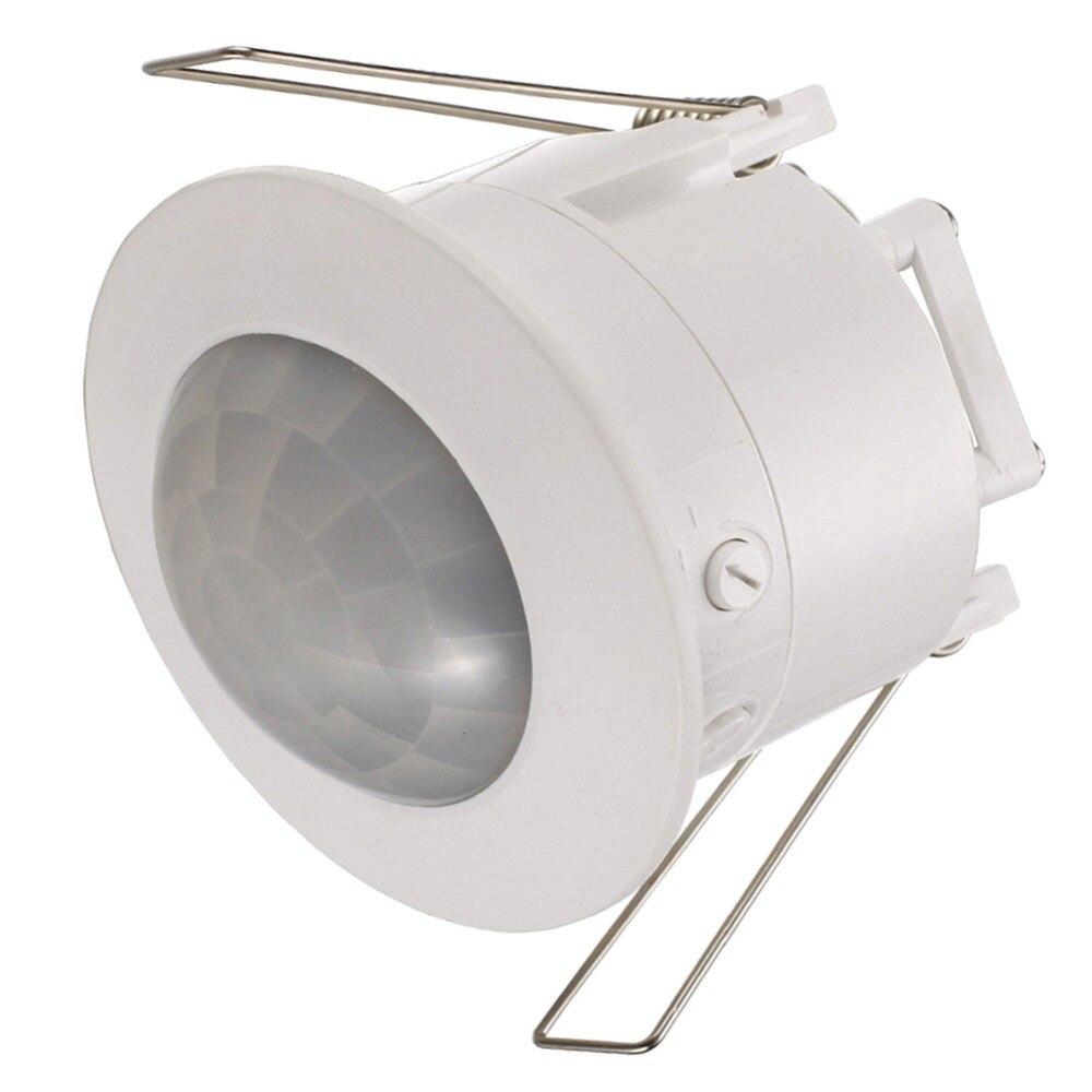 Sensor de movimiento del cuerpo infrarrojo PIR de techo lámpara de Detector interruptor de luz para bombilla LED para lámpara encendido y apagado automático