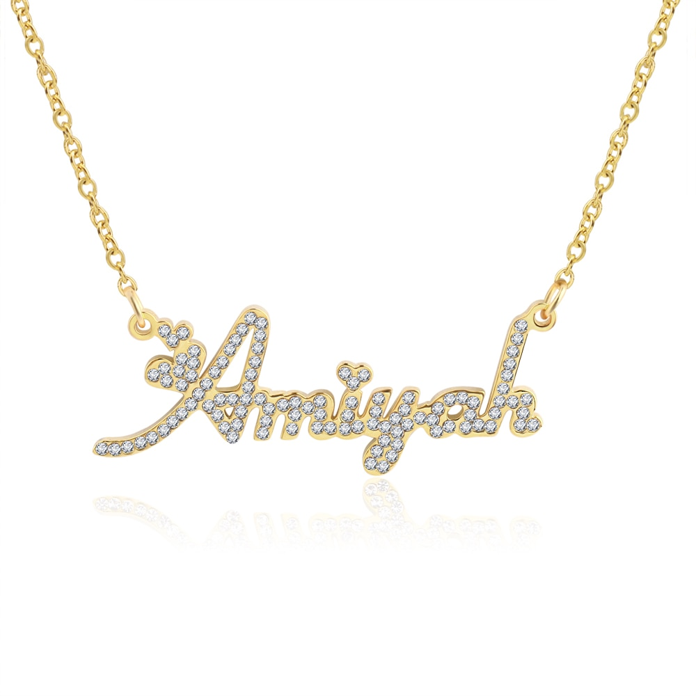 women costume two name necklace rose gold personalized infinity double names necklaces stone chain jewelery gift for lover mom 3UMeter Crystal Pendant Name Necklace Stone Chain Zirconia Necklaces Women Personalized Necklace with Names Initial Letters