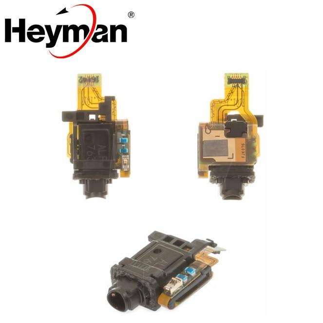 Heyman cabo flex fone de ouvido jack para sony x f8131 f8132 desempenho conector handsfree fone de ouvido jack cabo plano