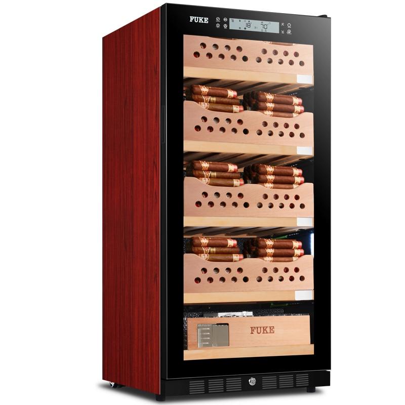 FUKE humidor charuto humidor gabinete levou luz Refrigerador Espanhol Cedar wood Charuto Humidor Gabinete Refrigerador FK-48C5