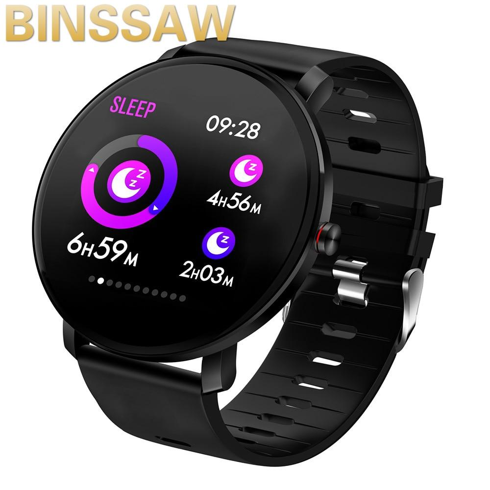 Binssaw 2020 k9 relógio inteligente ip68 à prova dips água ips tela colorida monitor de freqüência cardíaca fitness rastreador esportes smartwatch pk cf58 k1