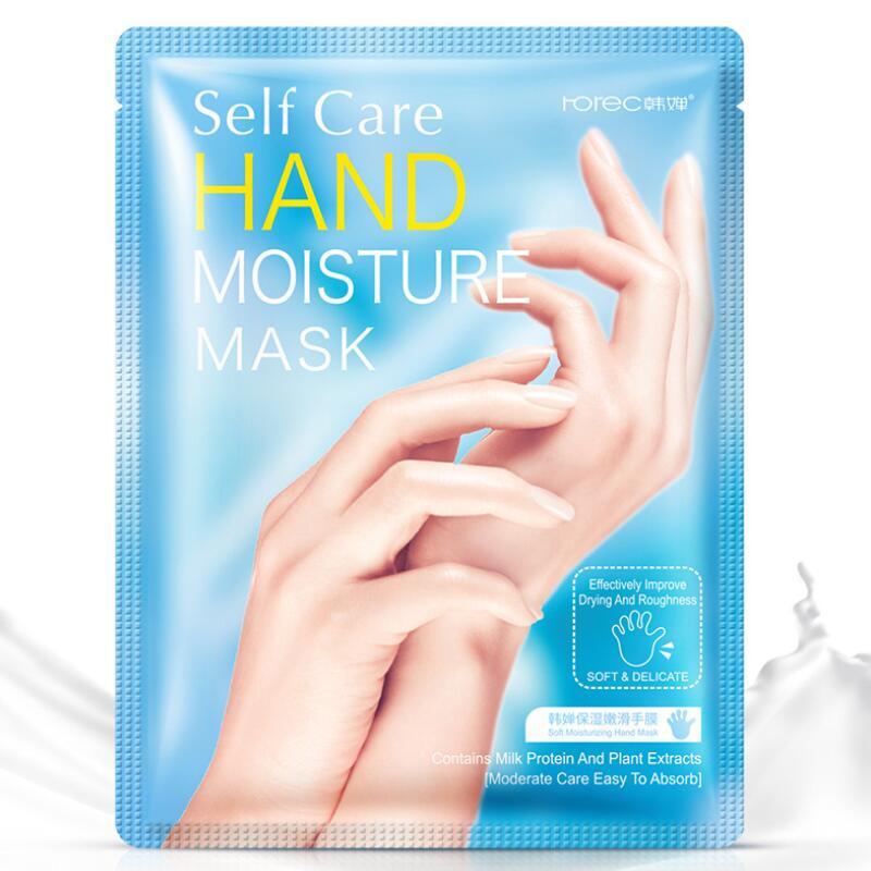 1 Pair Hanchan Milk Hand Mask Soft Moisturizing Whitening Anti Wrinkle Remove Hard Dead Skin Hand Spa Skin Care