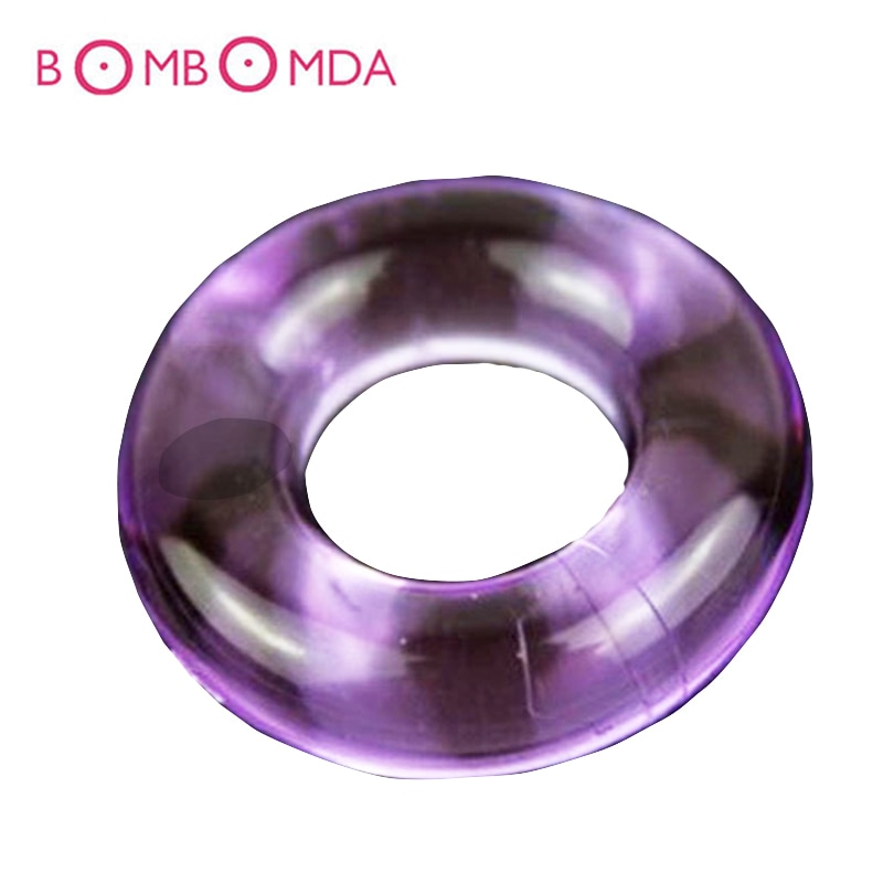 1 5 10 piezas anillos de cristal para pene Cumshot Delay pene anillos de silicona anillo para pene estirador erótico para adultos juguetes sexuales para los hombres