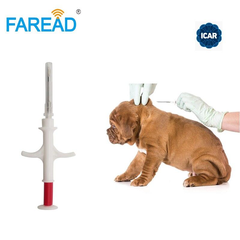 1.4x 8 مللي متر/2.12x12 مللي متر FDX-B ISO11784/5 RFID زرع رقاقة الحقنة الحيوان رقاقة للحيوانات الاليفة الكلب القط الأسماك مزرعة الحصان البيطرية عيادة