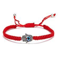 Rinhoo Lucky Red String Thread Hand Palm Bracelets Blue Turkish Evil Eye Charm Women Handmade Friendship Jewelry Lovers Gifts