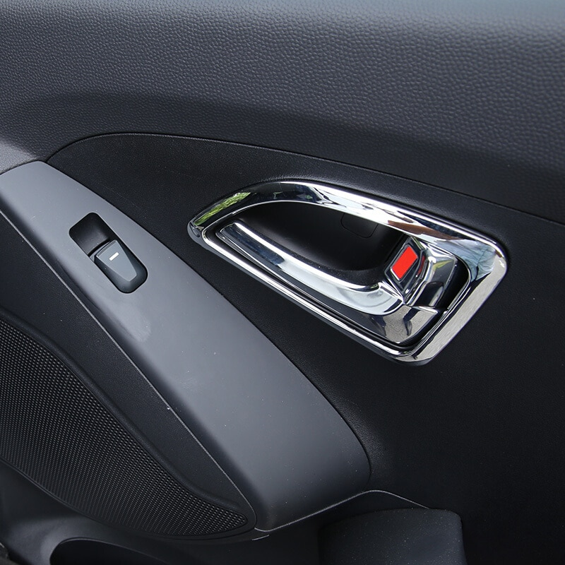 Para Hyundai IX35 Tuscon 2011, 2012 de 2013 cromo ABS en el Interior del centro de Control de cubierta para coche, moldura embellecedora ACCESORIOS 4 Uds