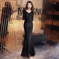 new chinese red women cheongsam sexy off shoulder qipao elegant ladies mermaid floor length dresses bride toast dress gowns