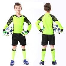 Conjunto de Jersey de portero de fútbol para niños, Protector de esponja personalizado, traje de uniforme de portero, pantalones cortos, Protector de esponja grueso para la puerta