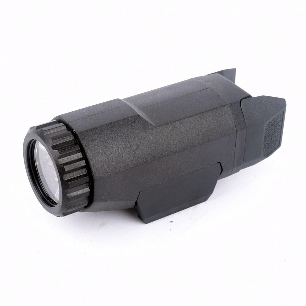 Táctica APL Glock pistola arma luz constante/momentáneo/estroboscópico linterna APL-G3 400 lúmenes LED blanco luz negro