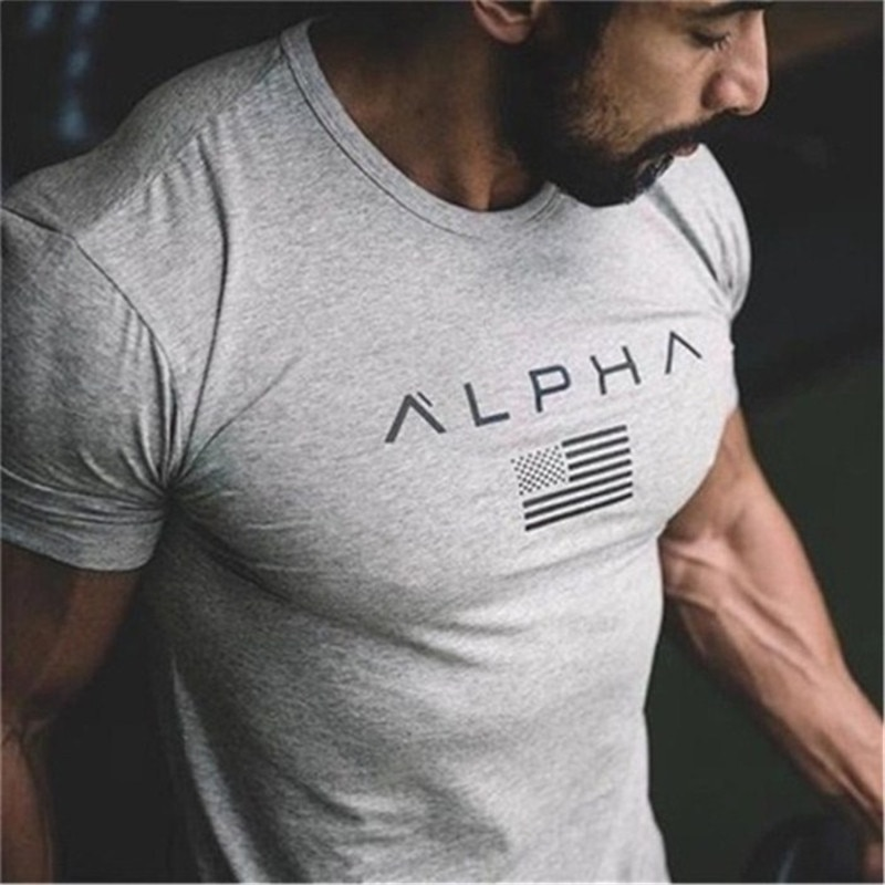Camiseta deportiva 2019 de algodón para hombre, camiseta de manga corta para correr, camiseta de entrenamiento para hombre, Camiseta deportiva para entrenamiento, Camiseta deportiva Rashgard