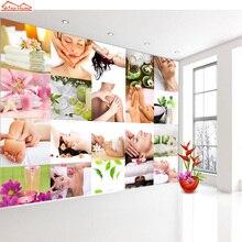 Shinehome-papier peint pour Salon De SPA   Rouleaux muraux 3d De papier peint pour Salon De manucure, magasin De Massage De 3 d