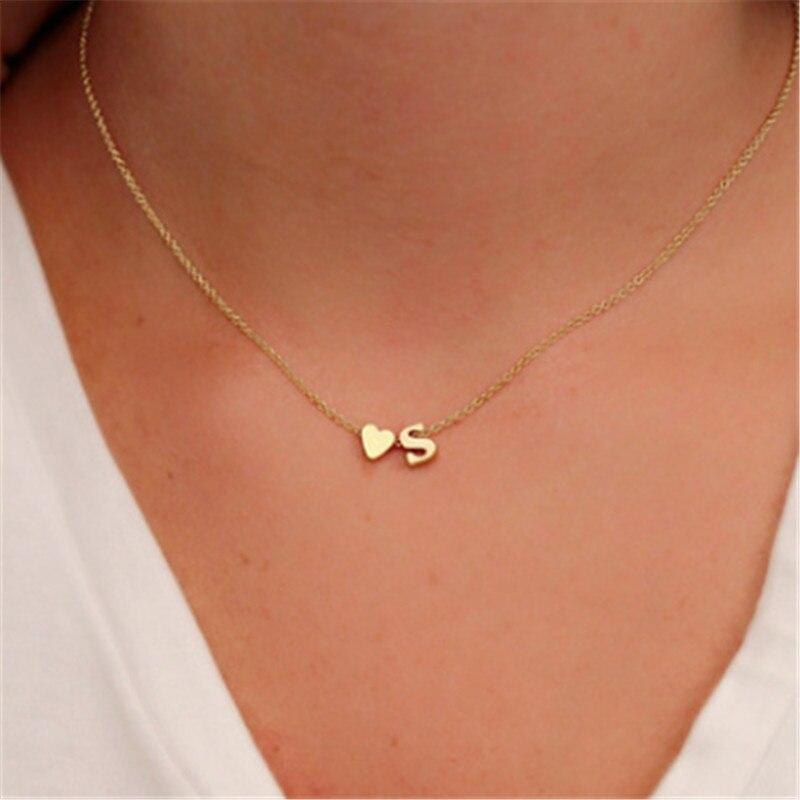 2018 Cristal Moda Carta Personalizada Colar Nome Jóias Ouro Prata Cores para Mulheres Acessórios Presente Namorada