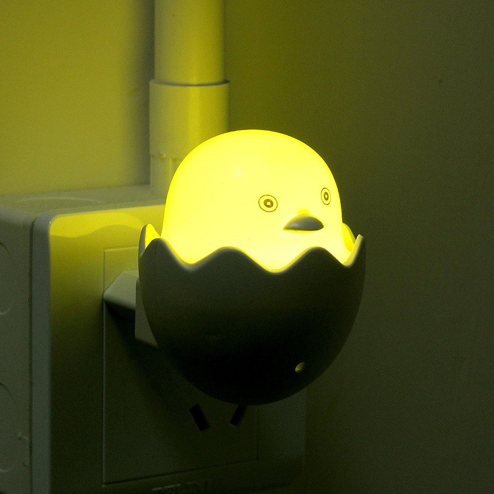 Indoor Cute Yellow Duck LED Night Light Control Sensor LED Dimmable Wall Lamp Remote Control for Home Bedroom With EU Plug  - buy with discount
