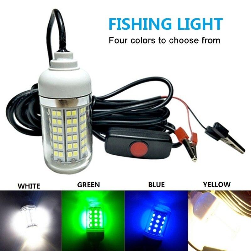 12V 15W LED sumergible bajo el agua IPX8 impermeable Luz de pesca nocturna lámpara de barco al aire libre atrae gambas calamar Krill
