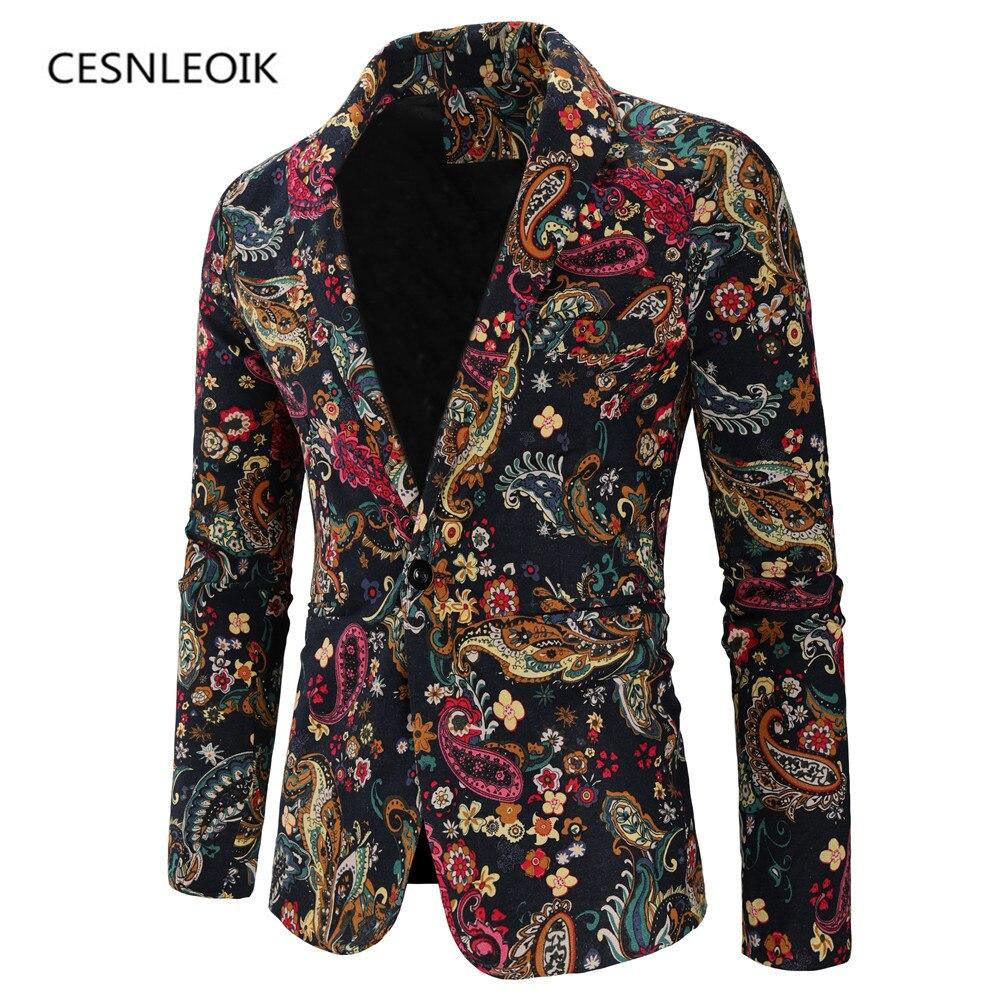 Chaqueta de talla grande XXL 3XL a la moda para hombre, blazer informal ajustado para hombre, trajes con estampado, abrigo, ropa para hombre
