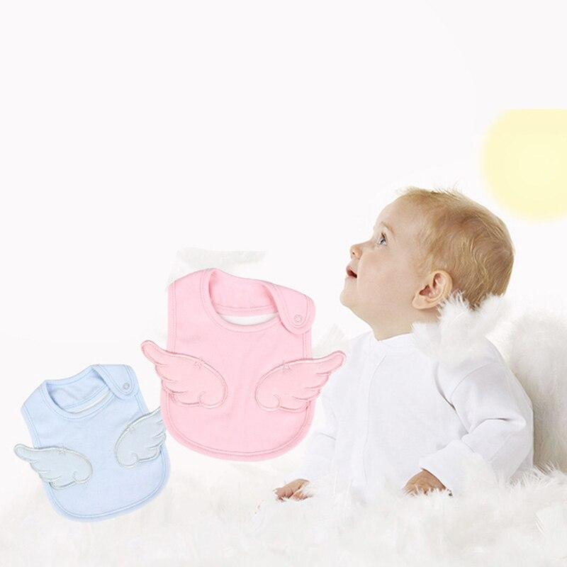 Baberos de bebé calientes 100% de algodón 5 colores impermeable babero lindo bordado patrón de Ángel Baberos Bandana niñas niños cosas
